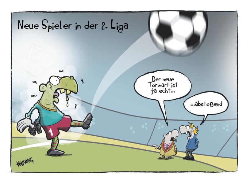 Saisonauftakt mit dem RS-Cartoon. | SCHÖN DOOF!