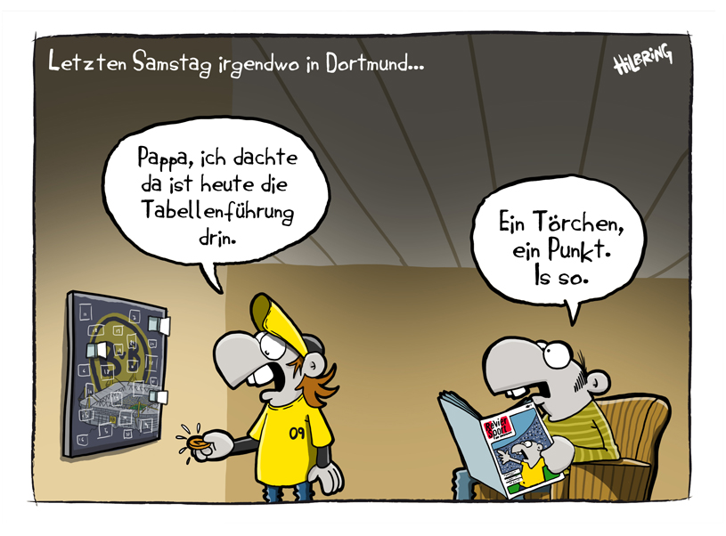 Montag: Der RevierSport Cartoon!   SCHÖN DOOF!