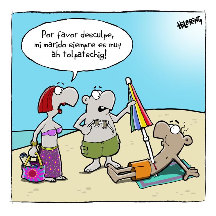 Sonnenschirm strand comic  Neulich auf Mallorca…. | SCHÖN DOOF!