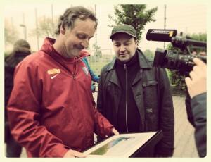 Karikatur für VfL-Trainer Peter Neururer