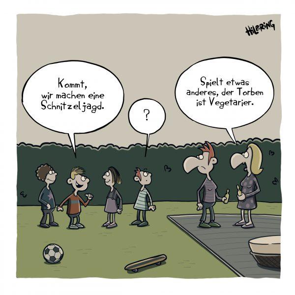 Neuer Cartoon: Schnitzeljagd …
